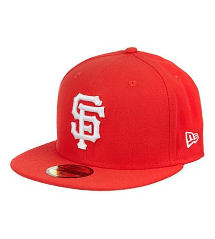 NEW ERA Block colour 59fifty cap (Red