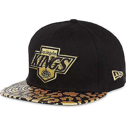 NEW ERA 9fifty leopard print LA Kings cap (Black/gold
