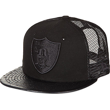 NEW ERA Ostrich leather Raiders baseball cap (Black