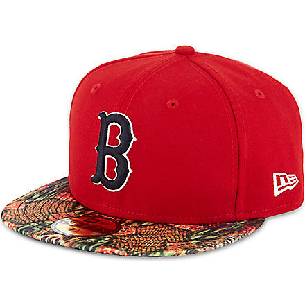 NEW ERA 59fifty Red Sox snake visor cap (Red/multi