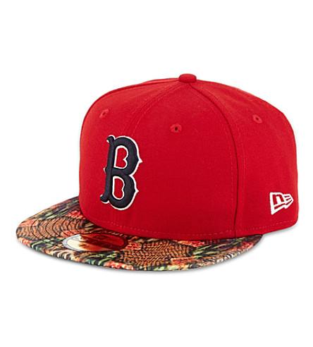 NEW ERA 59fifty Red Sox snake visor cap (Red/multi