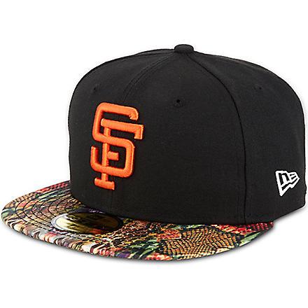 NEW ERA 59fifty Giants snake visor cap (Black/multi