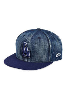 NEW ERA La Dodgers 59Fifty denim baseball cap