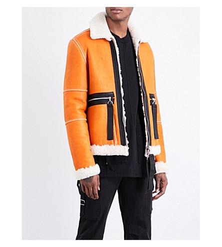 BLOOD BROTHER Ferrman reversible leather jacket (Orange