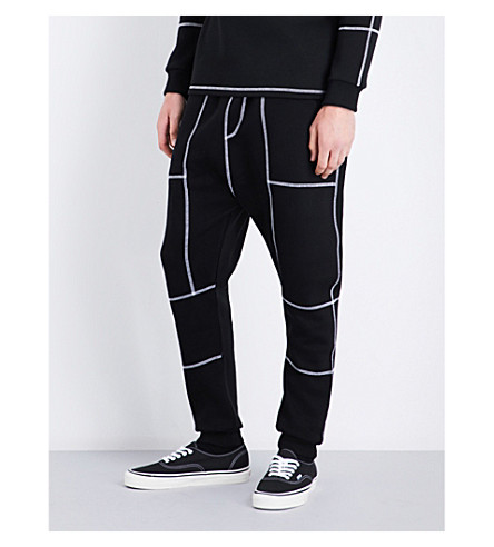 BLOOD BROTHER Hawkes cotton-blend track pants (Ecru