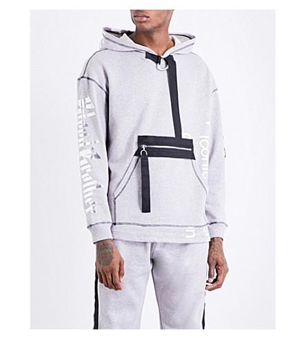 BLOOD BROTHER Palladian cotton-fleece hoody (Grey