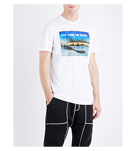 BLOOD BROTHER Riverside cotton-jersey T-shirt (White