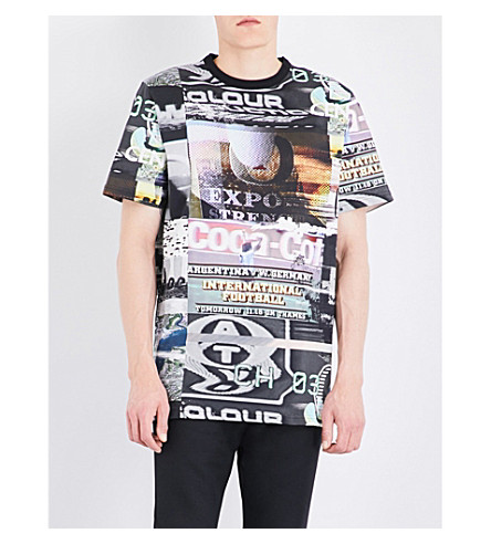 BLOOD BROTHER Showreel cotton-jersey T-shirt (All+over+print