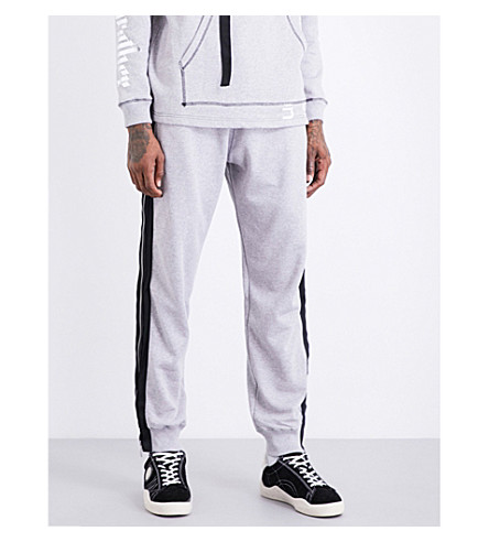 BLOOD BROTHER Zipped-sides cotton-jersey jogging bottoms (Grey
