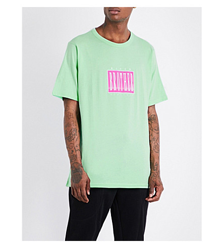 BLOOD BROTHER Brickies Music cotton-jersey T-shirt (Green