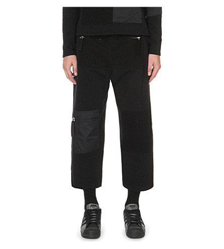 BLOOD BROTHER Breed cropped cotton-jersey jogging bottoms (Black