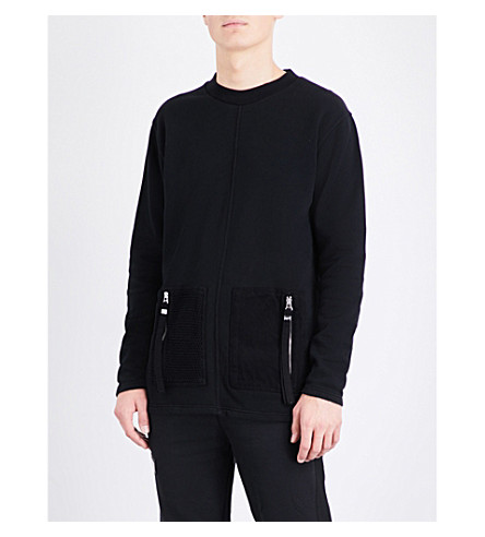 BLOOD BROTHER Hunt cotton-jersey sweater (Black
