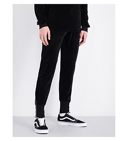 BLOOD BROTHER Vulcan velour jogging bottoms (Black