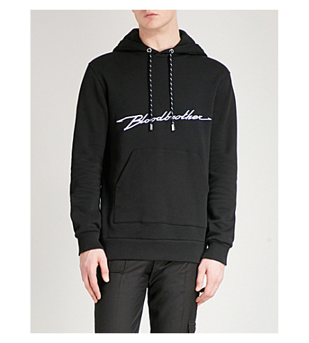 BLOOD BROTHER Accelerate cotton hoody (Black