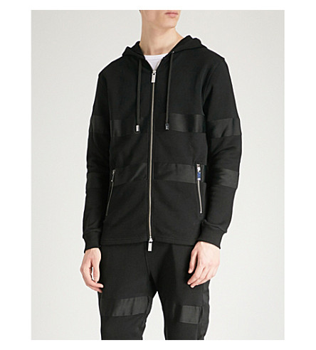 BLOOD BROTHER Blizzard panelled cotton-jersey hoody (Black