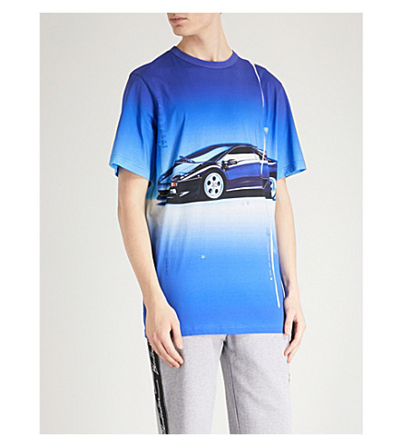 BLOOD BROTHER Car-print cotton-jersey T-shirt (All+over+print