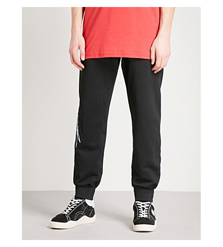 BLOOD BROTHER Mainframe cotton-jersey jogging bottoms (Black