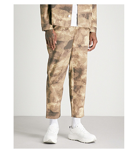 BLOOD BROTHER Motion regular-fit straight trousers (Khaki