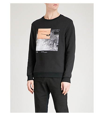 BLOOD BROTHER Update printed cotton-jersey sweatshirt (Black