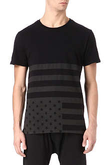SYSTVM Faded flag cotton t-shirt