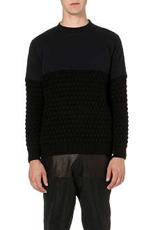BLOOD BROTHER Bart textured-knit jumper
