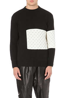 BLOOD BROTHER Mina panelled jumper