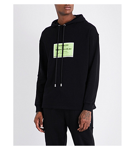 BLOOD BROTHER Launch-print cotton-jersey hoody (Black