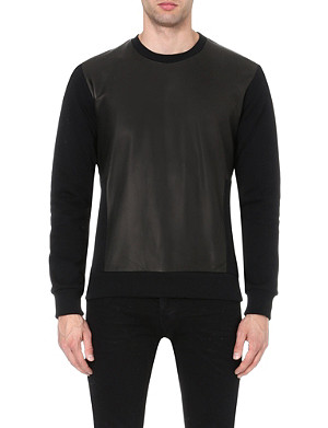 BLOOD BROTHER Leather panel sweatshirt