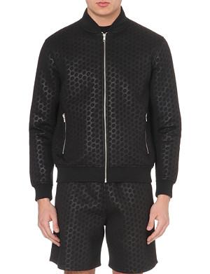 BLOOD BROTHER Neoprene spot pattern jacket