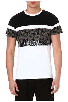 SYSTVM Snake and flower-panel t-shirt