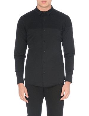 BLOOD BROTHER Darkness woven-panel shirt