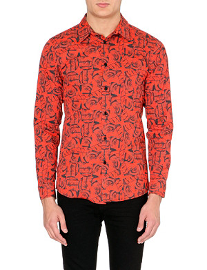 BLOOD BROTHER Rose-print collage shirt
