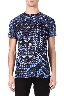 SYSTVM Snake skin cotton t-shirt