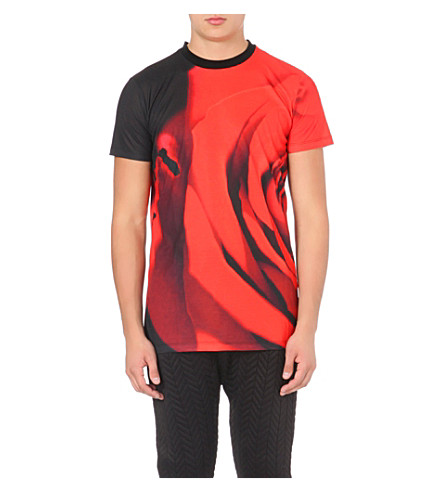 BLOOD BROTHER Rose t-shirt (Black/red sub