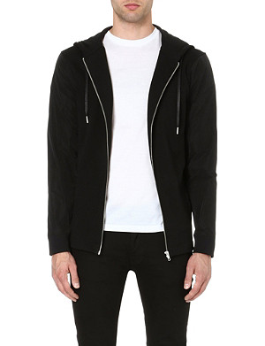 BLOOD BROTHER Contrast sleeve hoody