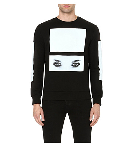 BLOOD BROTHER Placement eye sweatshirt (Black/white