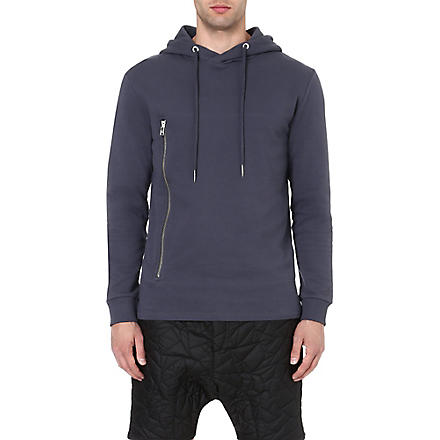 BLOOD BROTHER Zip pocket hoody (Grey