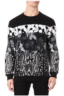 SYSTVM Snake and flower-panel sweatshirt