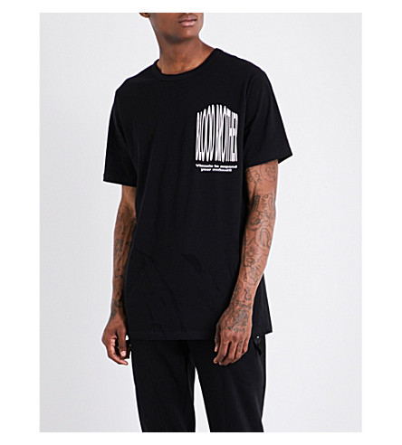 BLOOD BROTHER Visual cotton-jersey T-shirt (Black