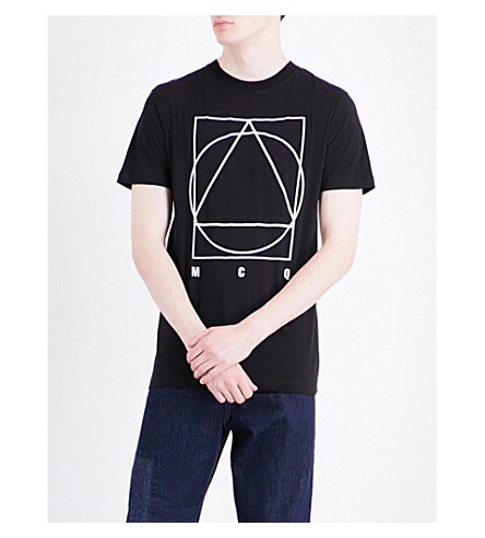 MCQ ALEXANDER MCQUEEN Logo-print cotton-jersey T-shirt (Darkest+black