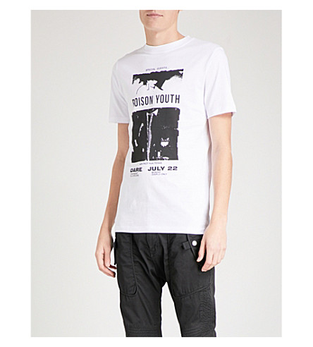 MCQ ALEXANDER MCQUEEN Poison Youth cotton-jersey T-shirt (Optic+white+black