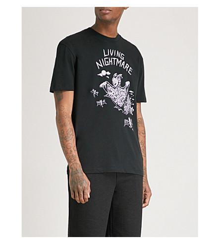 MCQ ALEXANDER MCQUEEN Living Nightmare printed cotton-jersey T-shirt (Black+carbon+navy