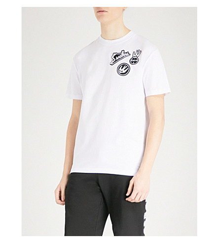 MCQ ALEXANDER MCQUEEN Appliquéd cotton-jersey T-shirt (White
