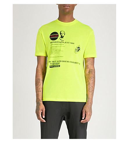 Camiseta camiseta House Acid ALEXANDER MCQUEEN amarillo neón MCQ AqEaHR