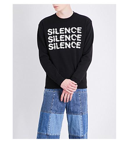 MCQ ALEXANDER MCQUEEN Silence cotton-jersey sweatshirt (Darkest+black