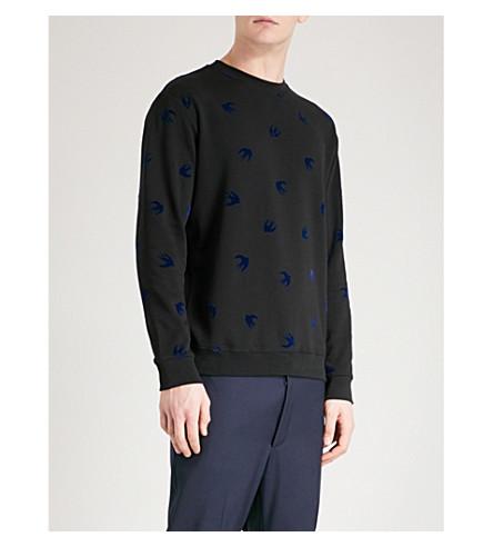 MCQ ALEXANDER MCQUEEN Swallow cotton-jersey sweatshirt (Black