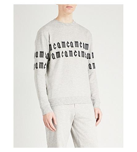 MCQ ALEXANDER MCQUEEN Logo-embroidery cotton-jersey sweatshirt (Grey
