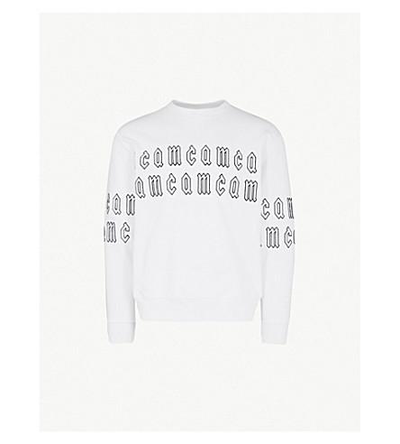 MCQ ALEXANDER MCQUEEN Logo-embroidered cotton-jersey sweatshirt (Optic+white