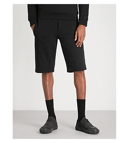 MCQ ALEXANDER MCQUEEN Printed cotton-jersey shorts (Darkest+black