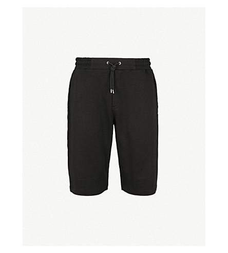 MCQ ALEXANDER MCQUEEN 标识刺绣平纹针织棉短裤 (深色 + 黑色)
